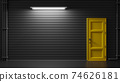 Yellow door. 74626181