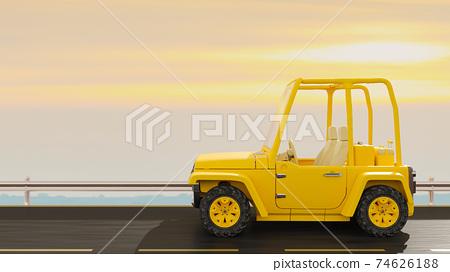 Yellow Car. 74626188