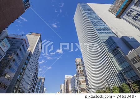 銀座城市景觀建築景觀銀座購物街建築形象 74633487