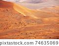 Sand desert in Namib 74635069