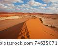 Sand desert in Namib 74635071