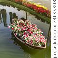 Lunar new year flower market 74635308