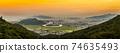 Sunset view of Nha Trang city, Vietnam 74635493