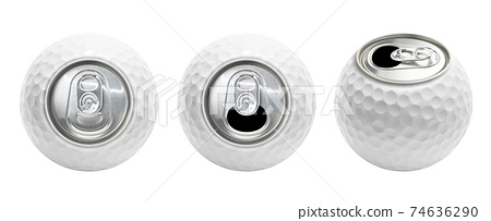 Golf ball can isolated 74636290