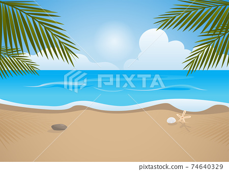 Tropical beach 74640329