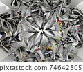 Gemstone or diamond texture closeup and kaleidoscope 74642805