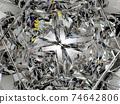 diamond structure star shape and kaleidoscope background 74642806