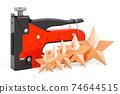 Customer rating of staple gun. 3D rendering 74644515