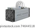 ASIC miner, 3D rendering 74644518