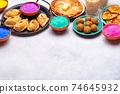 Traditional Indian Holi festival food 74645932