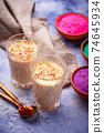 Traditional Indian drink thandai with saffron 74645934