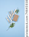 Zero waste natural soap and clothes pin 74645938