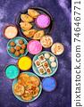 Traditional Indian Holi festival food 74646771