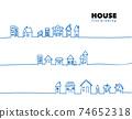 手工繪製的房子的矢量線圖 74652318
