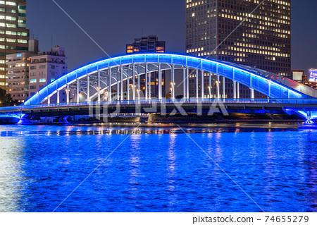 """S田川江橋大橋的""""東京""""夜景 74655279"""