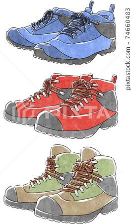 登山鞋的種類 74660483