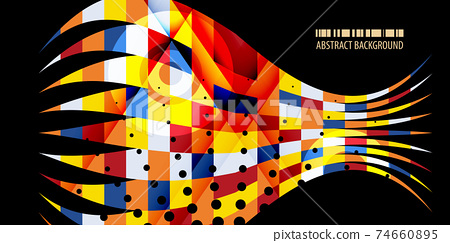 Geometric colorful abstract background vector template 74660895