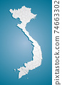 Creative map Vietnam, vector Asia country template 74663302