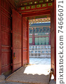 Ancient gate of the Gyeongbokgung, the palace of Joseon dynasty. 74666071