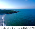 Aerial view of cape Fugueijiao, Shimen District, New Taipei, Taiwan. 74666079