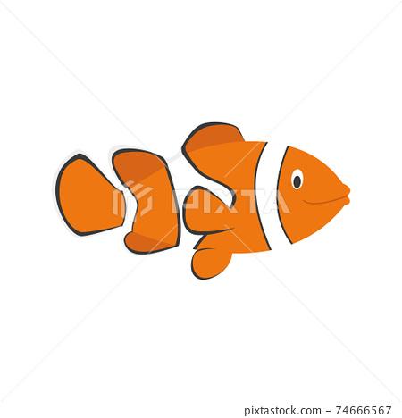 Cute cartoon clownfish vector illustration 74666567