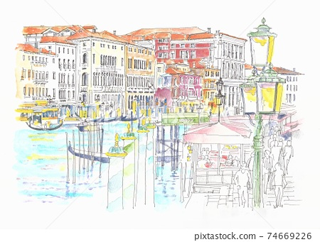 世界遺產城市景觀,意大利,威尼斯,大運河 74669226