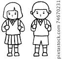 입학식 초등학생 74670231