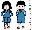 입학식 초등학생 74670232