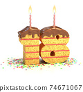 birthday cake in a shape of number 18 74671067