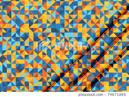 Abstract colorful triangles pattern seamless background texture. 74671869
