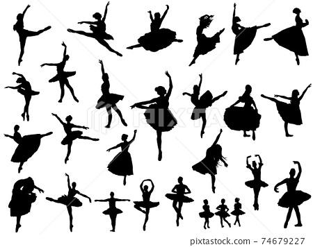芭蕾舞剪影集 74679227