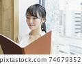 靠窗的女性商務場景閱讀資料 74679352