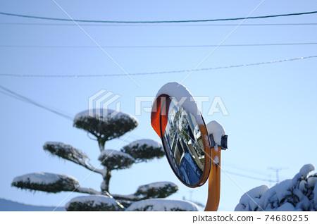 雪彎曲的鏡子 74680255
