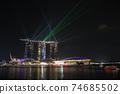 新加坡小遊艇船塢海灣沙子夜視圖 74685502