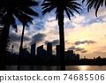 悉尼度假勝地的日落和風景 74685506