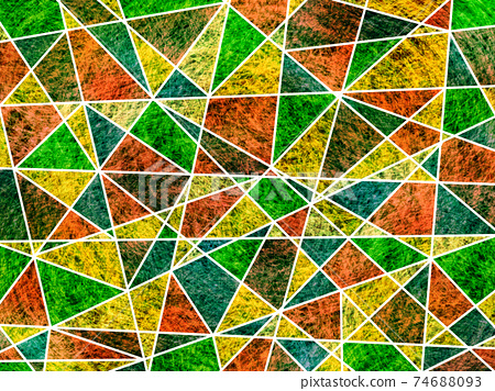 Stained glass style abstract illustration background 74688093