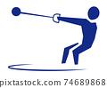 Hammer throwing 74689868