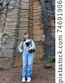 台灣女孩在澎湖玄武岩自然保留區 74691906