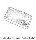 成分2-1燒豆腐⑤單色鍋,便當盒,也可用於烹飪圖像組合系列 74694661