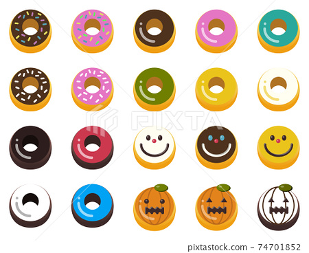 甜甜圈甜甜圈圖標糖果 74701852