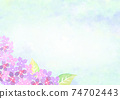 Background illustration of hydrangea drawn in watercolor 74702443