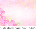 Background illustration of hydrangea drawn in watercolor 74702445