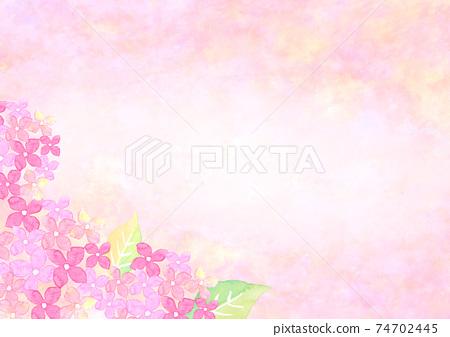 水彩畫的繡球花的背景插圖 74702445