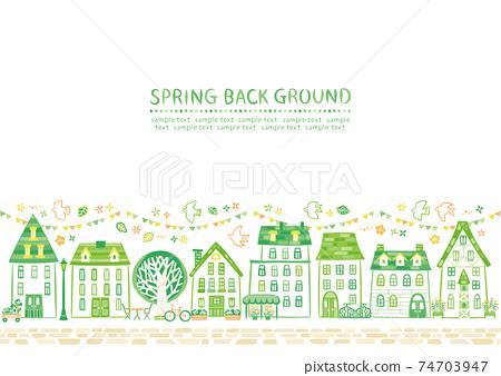 綠房子的城市景觀 74703947