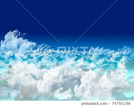 Large clouds above the clouds 74705296