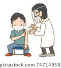 Vaccinated men 74714958