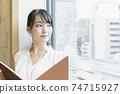靠窗的女性商務場景閱讀資料 74715927