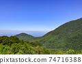 야쿠시마의 시라 타니 운수 계곡 미야 우라 선에서 보이는 야쿠시마의 산들 74716388