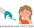 Vaccination time concept. Stop coronavirus concept. 74717395