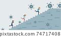 COVID-19 corona virus impact to businessman. 74717408
